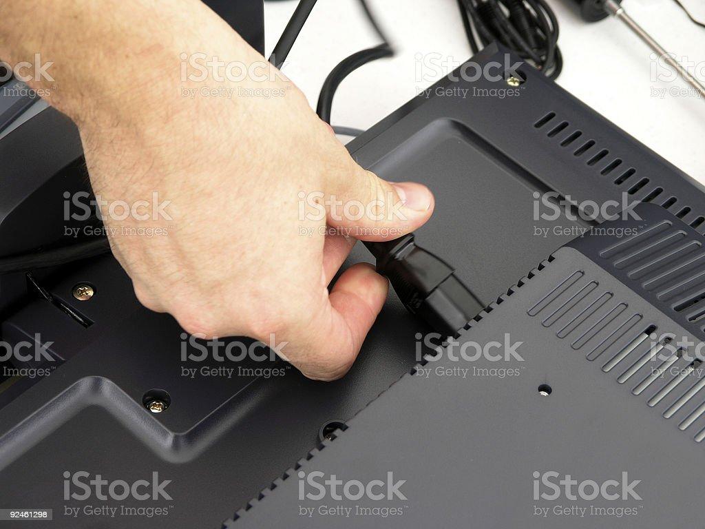 Technician Installing Equipment royalty-free stock photo