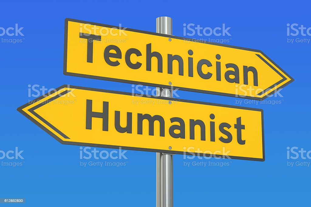 technician or humanist concept, 3D rendering stock photo