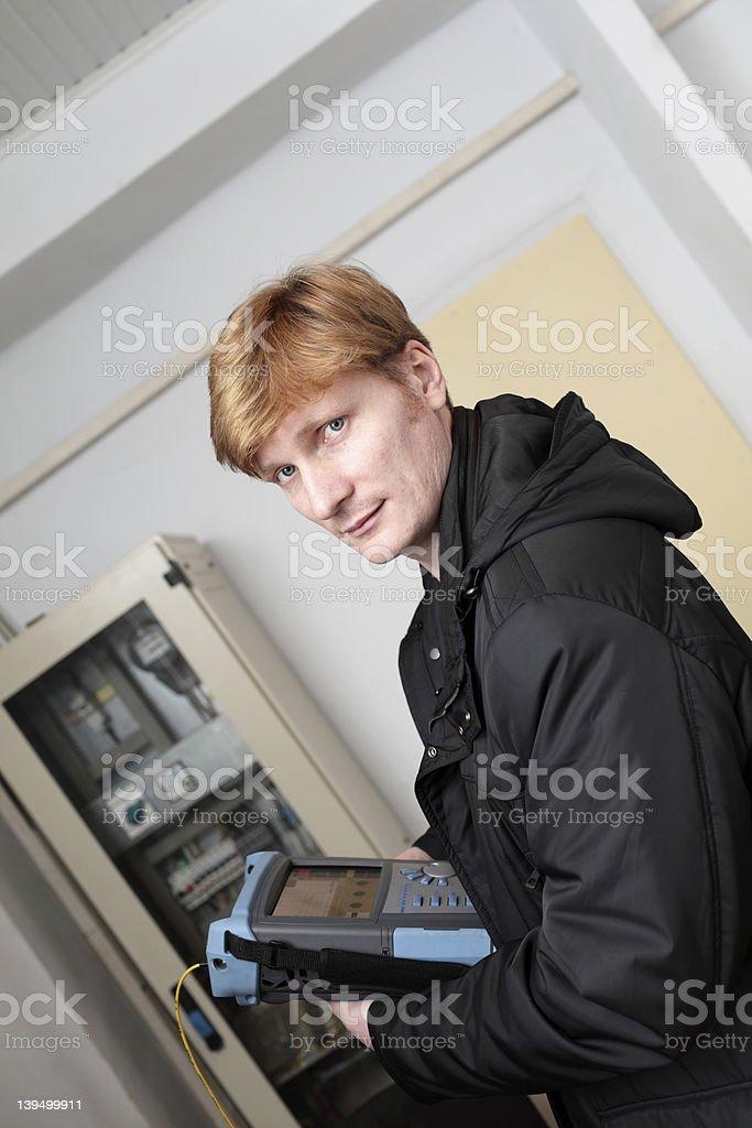 IT technician stock photo