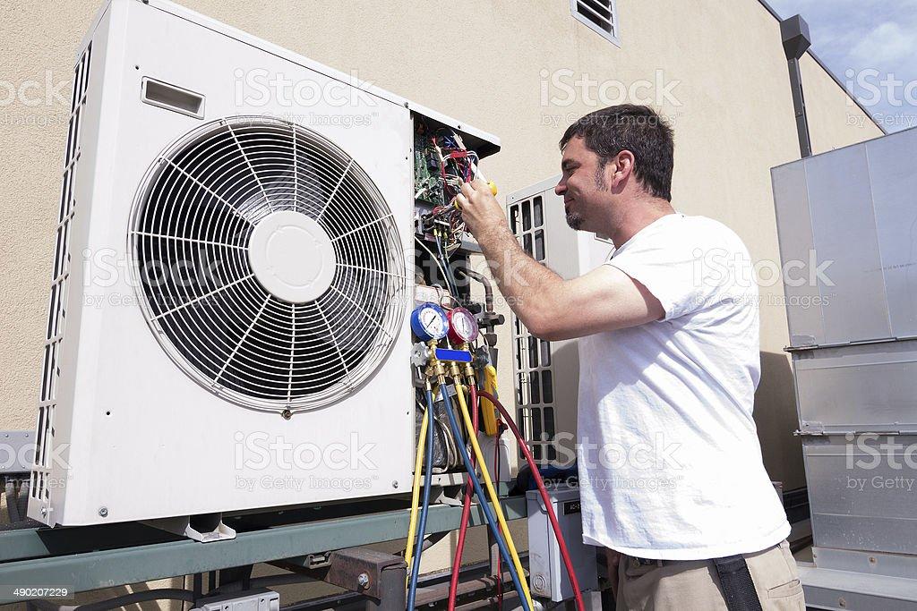 HVAC Technician stock photo