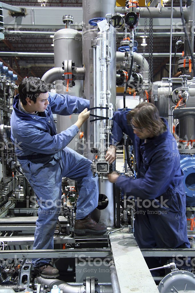 Technicians stock photo