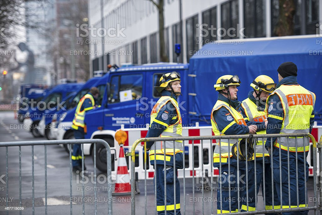 Technisches Hilfswerk THW Federal agency for technical relief) stock photo