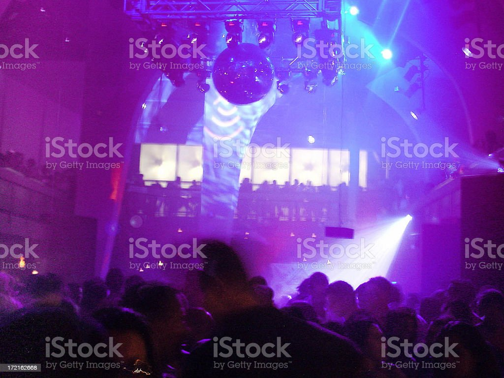 Techno music club royalty-free stock photo