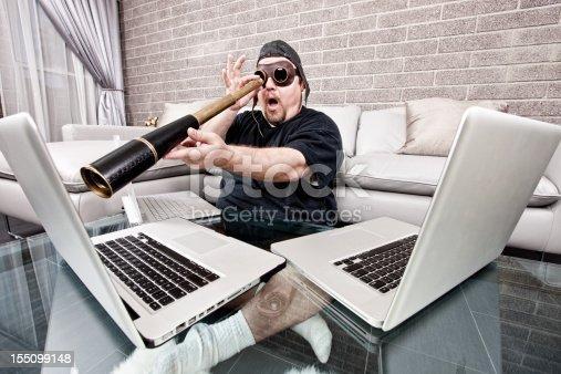 istock Techno Pirate with Spyglass 155099148