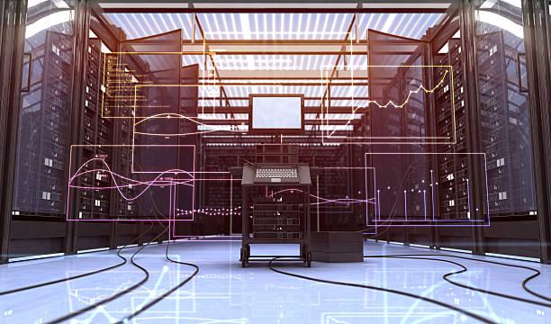 Techno room stock photo