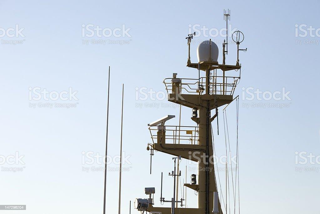 technologic boat mast stock photo