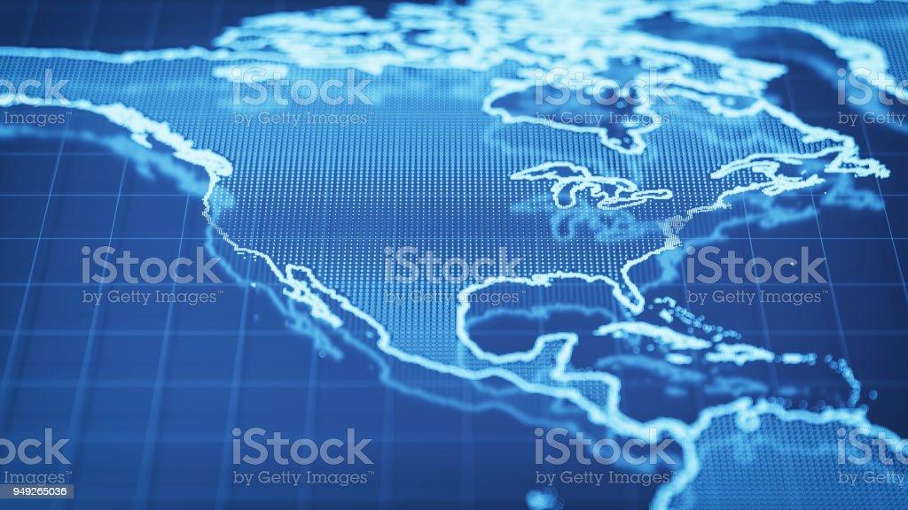 Technologischen Weltkarte - USA – Foto