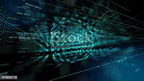 istock Technological abstract background. 919533718