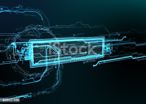 827387052 istock photo Technological background of futuristic lines and elements. 826437436
