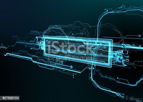 827387052 istock photo Technological background of futuristic lines and elements. 827500124