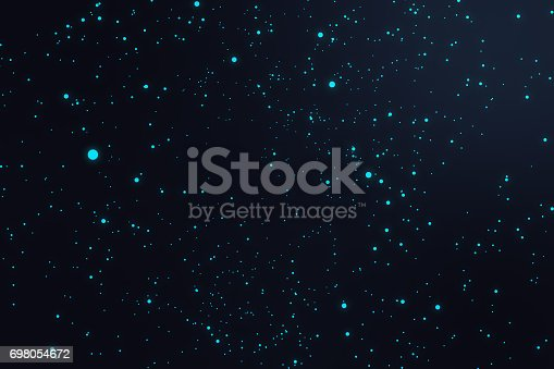 istock Technological connection futuristic shape, blue dot network, abstract background, blue background, Concept of Network, internet communication 3D rendering 698054672