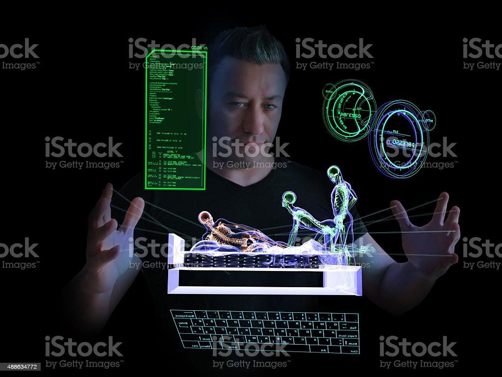 Technological Espionage and Bedroom stock photo