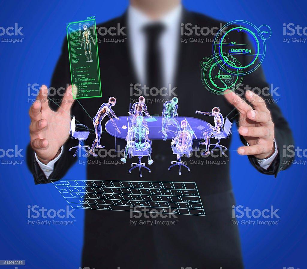 Technological Espionage and Spy stock photo