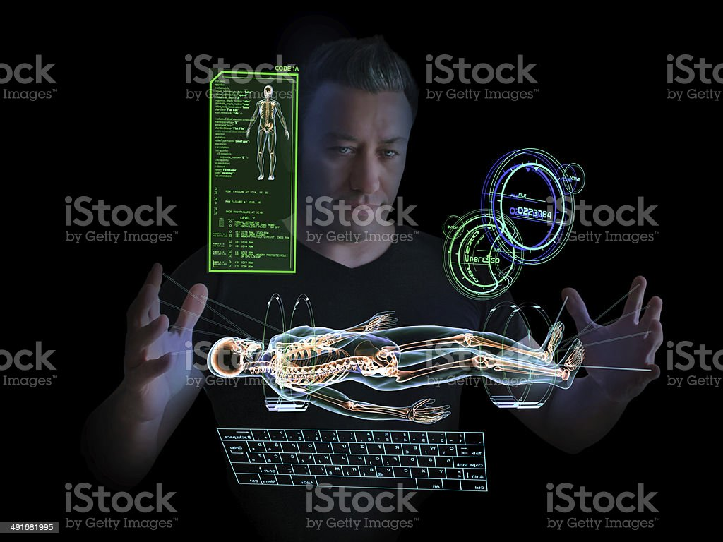 Technological Human Research stock photo