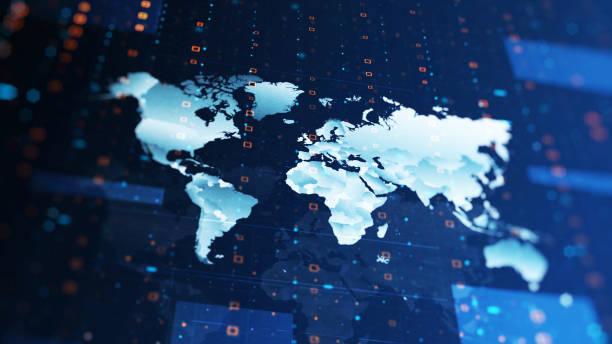 4k technologische karte hintergrund - internationale geschäftswelt stock-fotos und bilder