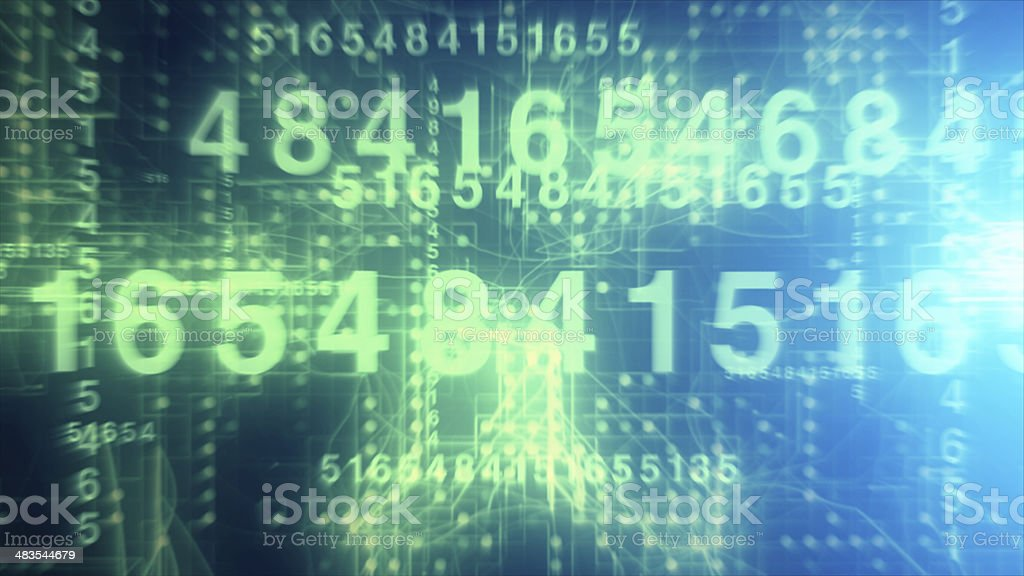 Technological Numbers stock photo