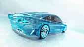 technological study of new futuristic car