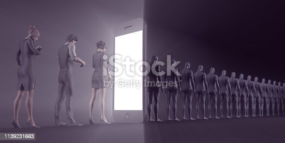 Technological Zombies with People Immersed in their Mobile Phones