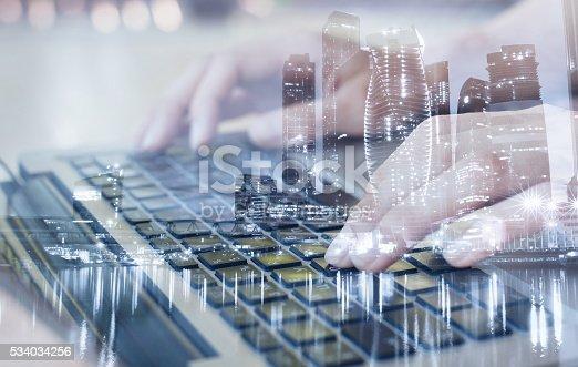 istock technologies, double exposure 534034256