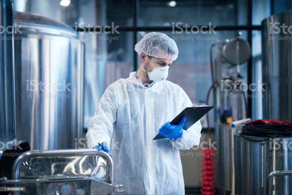 Technologist In Food Processing Industry Stock Photo ...