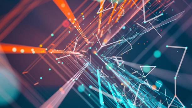 la tecnología abstracta - inteligencia artificial fotografías e imágenes de stock