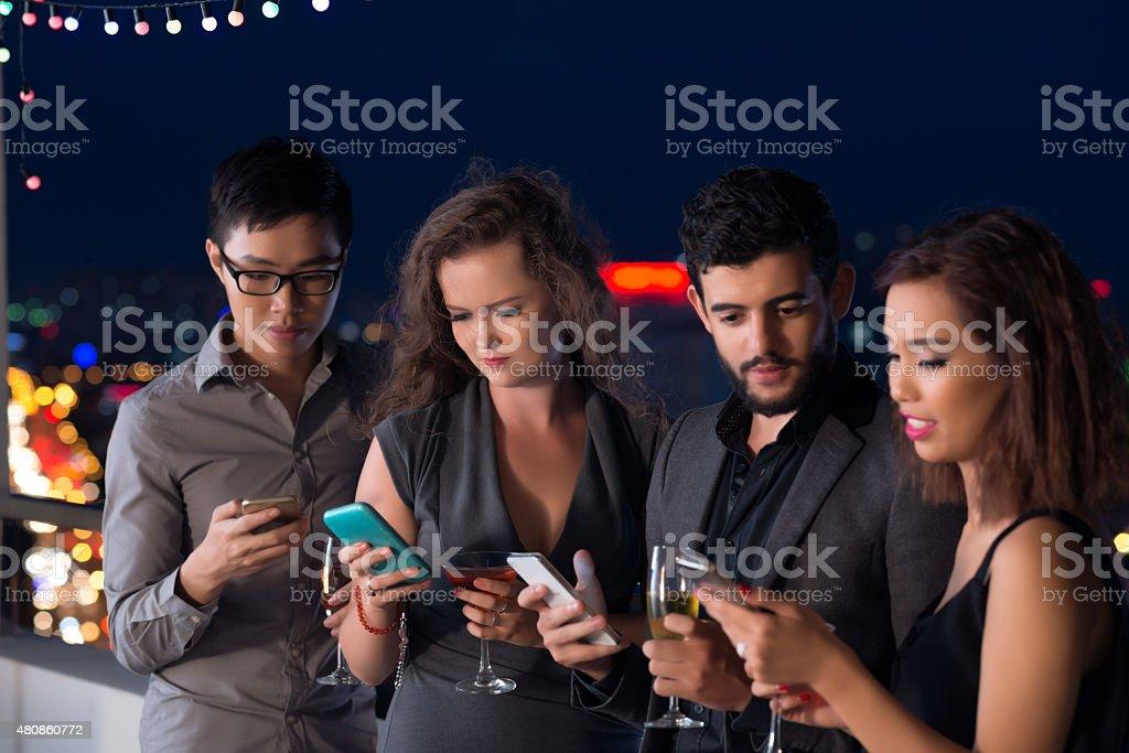 Technology addiction stock photo