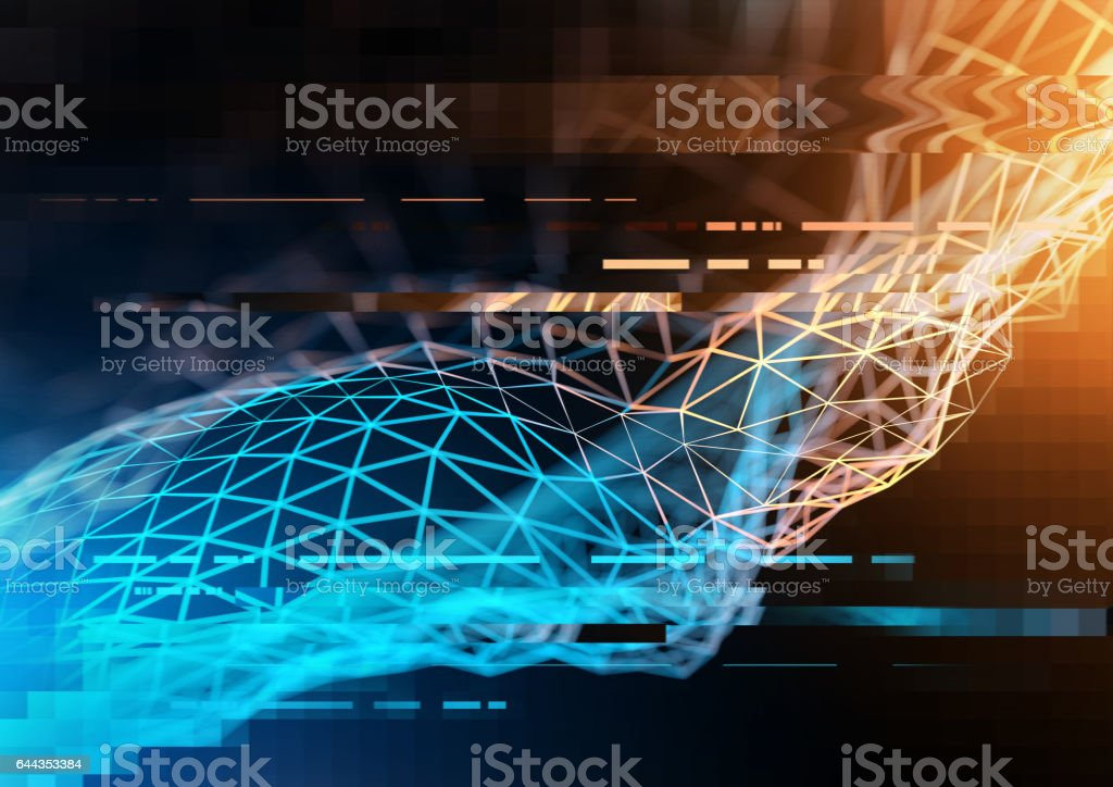 Technology And Business visualization stock photo