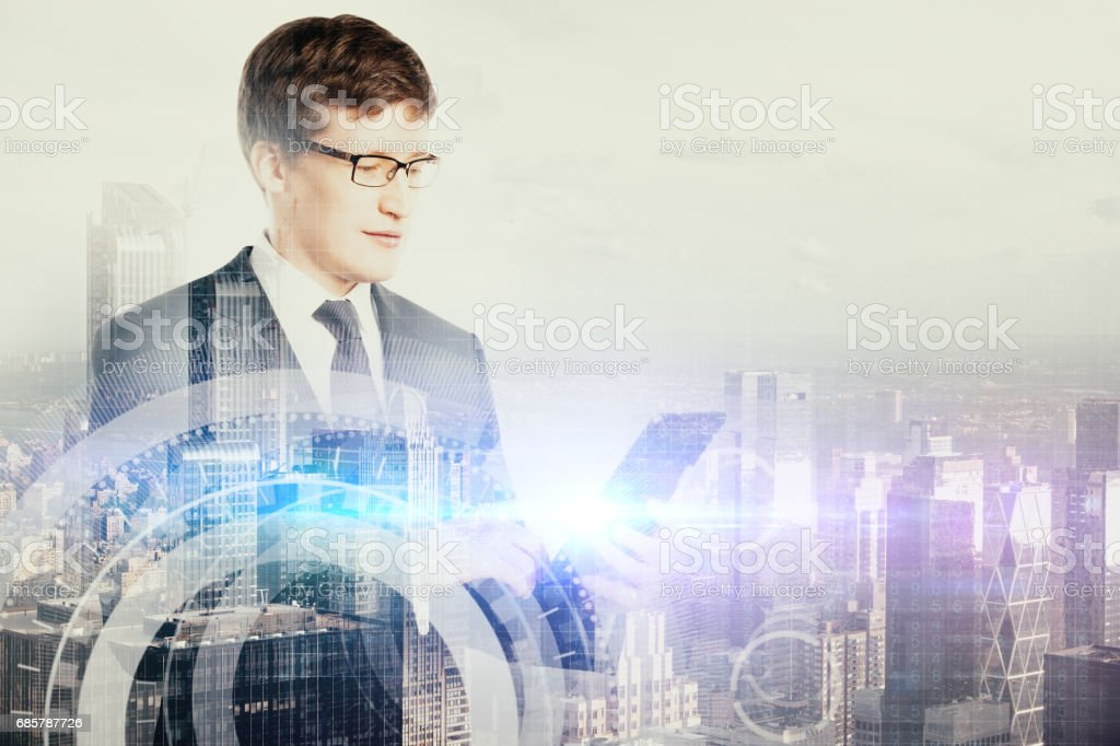 Technology and communication concept royalty-free stock photo