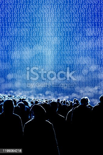 istock technology and crowd of people 1199064218