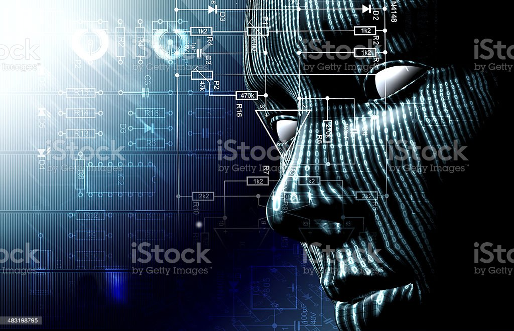 Technology and cyborg stock photo