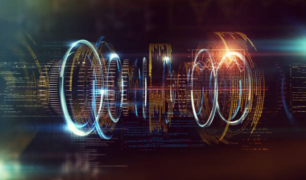 Technology and engineering abstract background.3d illustration stock photo