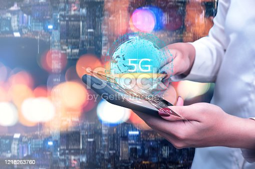 497982910 istock photo 5G technology and global communication 1218263760