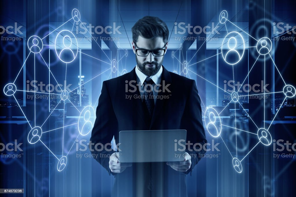 Technology and HR concept stock photo