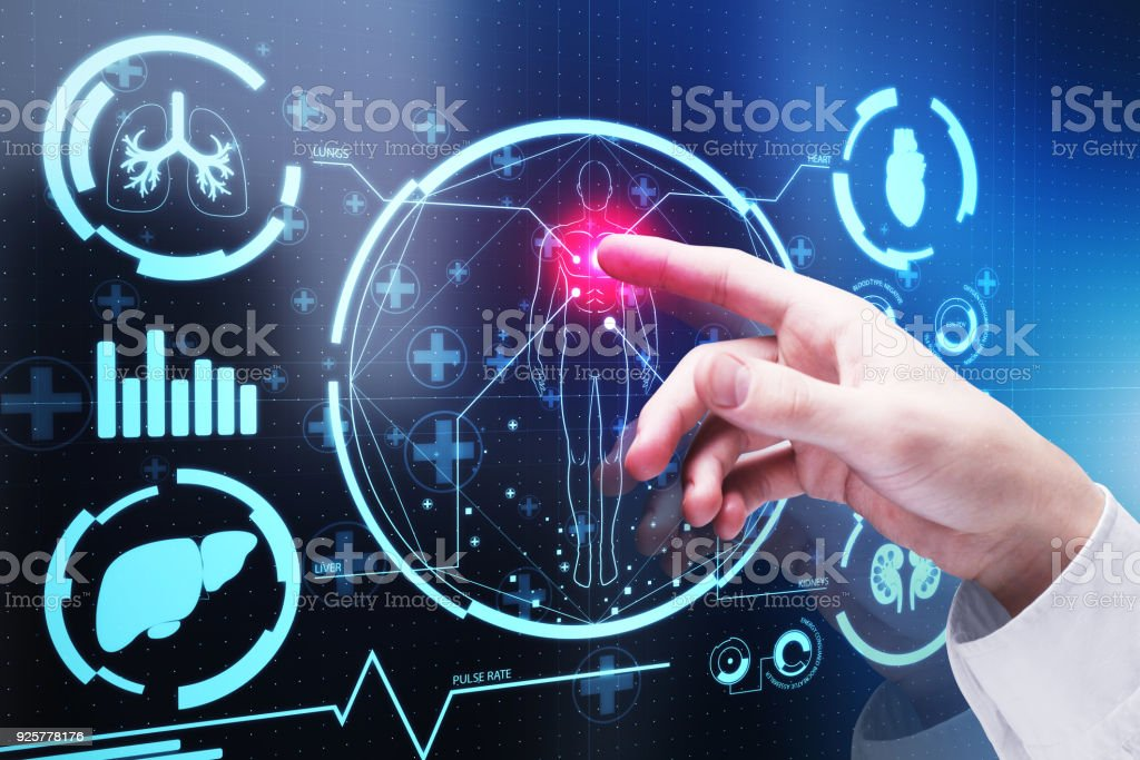 Technology and medicine concept stock photo