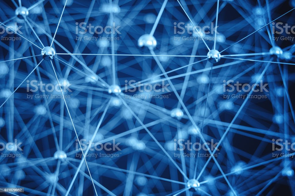 Technology And Network Background stock photo
