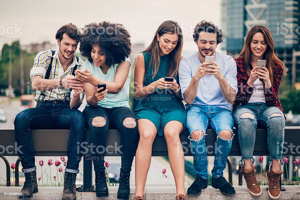 Technology and networking stock photo