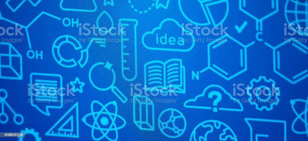 Technology and Science Symbols Depth of Field stock photo