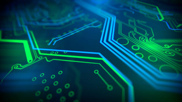 technology background. circuit board futuristic server code processing. - mother board stock photos and pictures