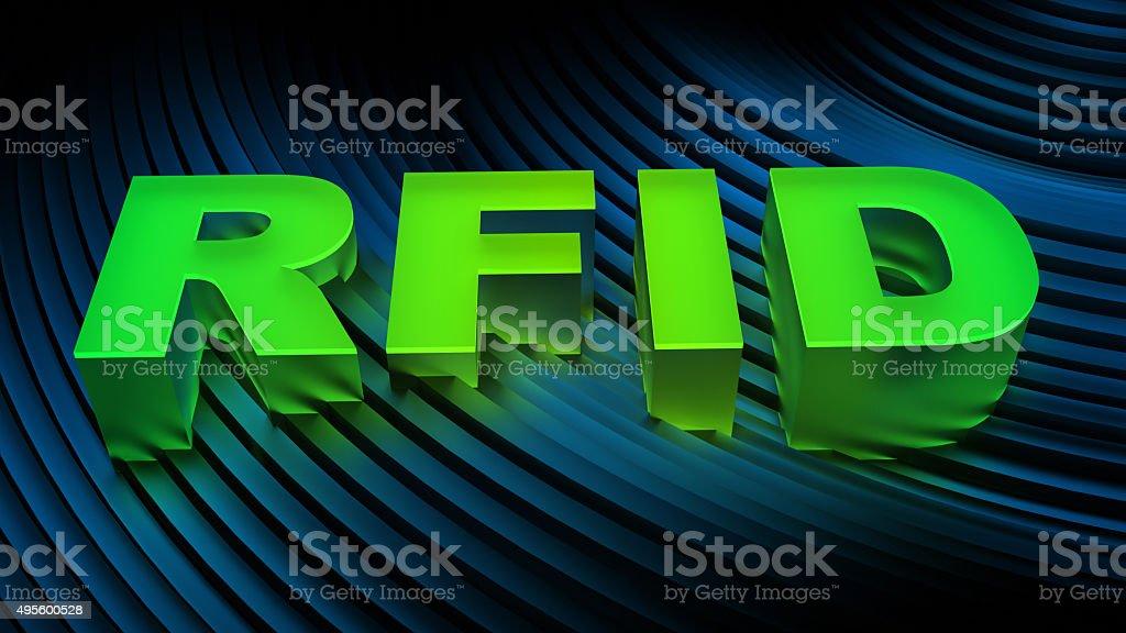 RFID technology background stock photo