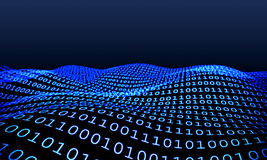 istock Technology Background With Binary Codes 1160180442