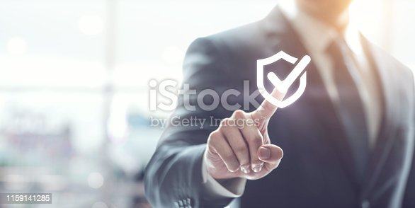 istock Technology computer and internet cyber security and anti virus concept. 1159141285