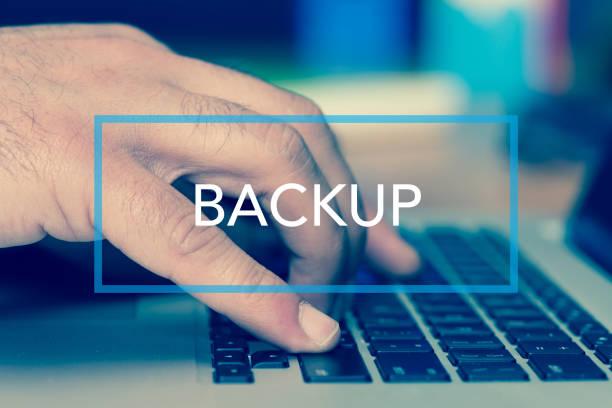 Technology Concept: BACKUP stock photo