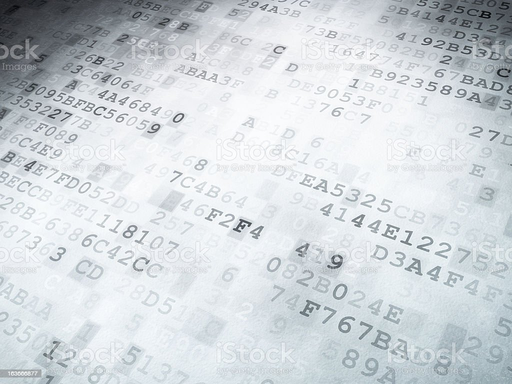 Technology concept: binary code digital background royalty-free stock photo