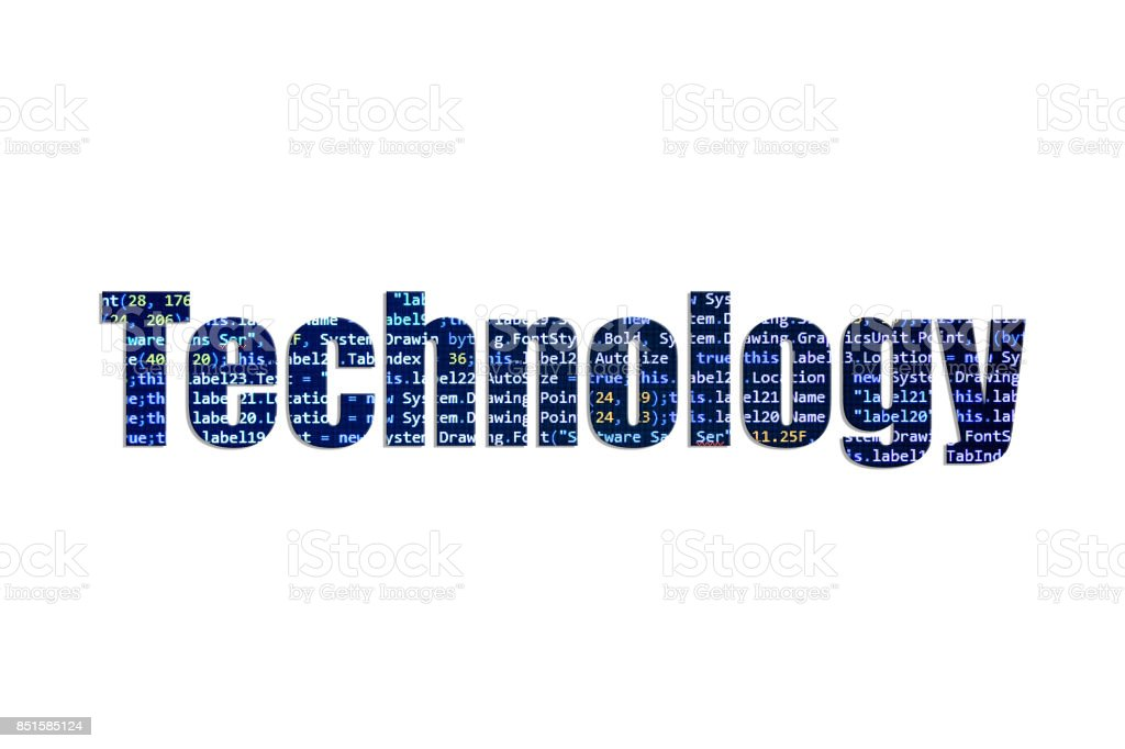 Technology concept on a white background stock photo