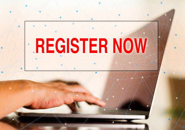 Technology Concept: Register Now stock photo