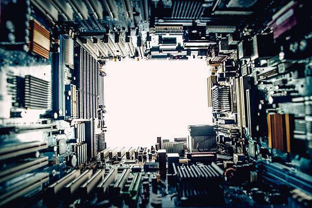 テクノロジーのコンセプトは、白い背景、コピースペース ストックフォト