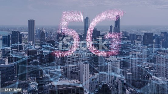 istock 5G Technology Concept,Innovation wireless Technology digital marketing with Chicago city 1154716956