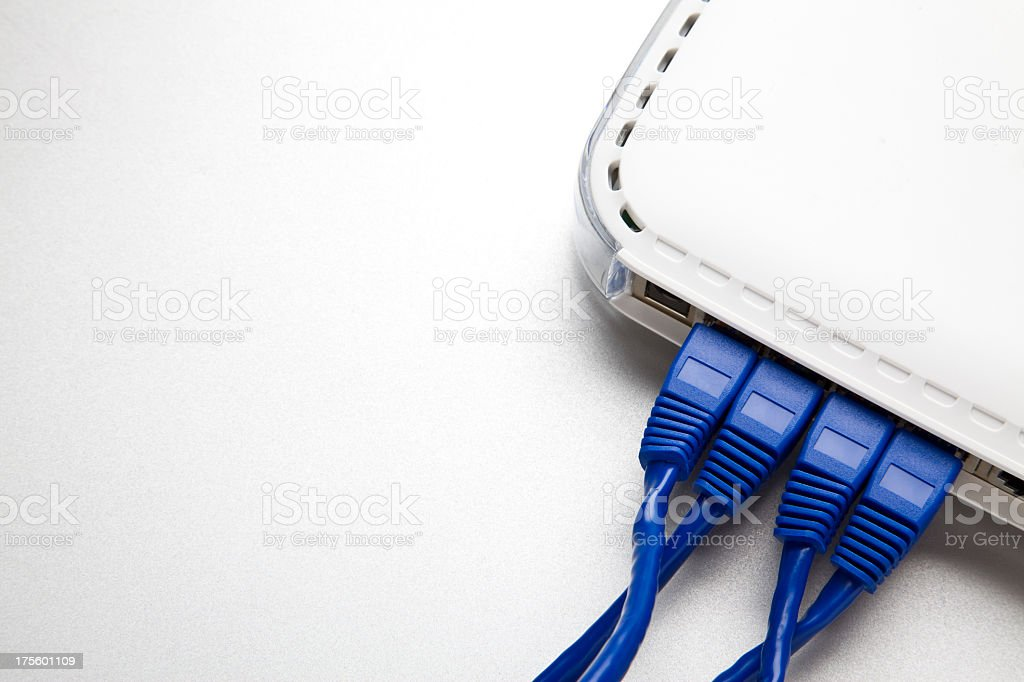 Technology. Connection. Router stock photo