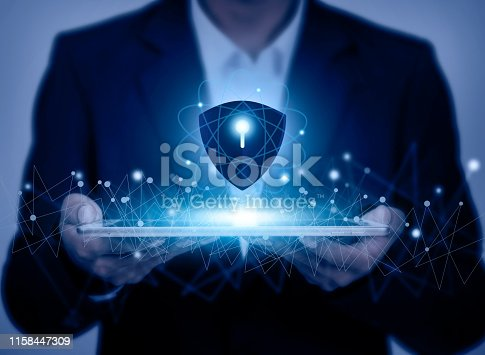 istock Technology cyber Security concept 1158447309