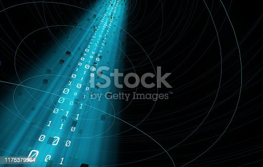 istock Technology data transmission and information technology, network transmission and Internet technology, data flow and information flow 1175379964